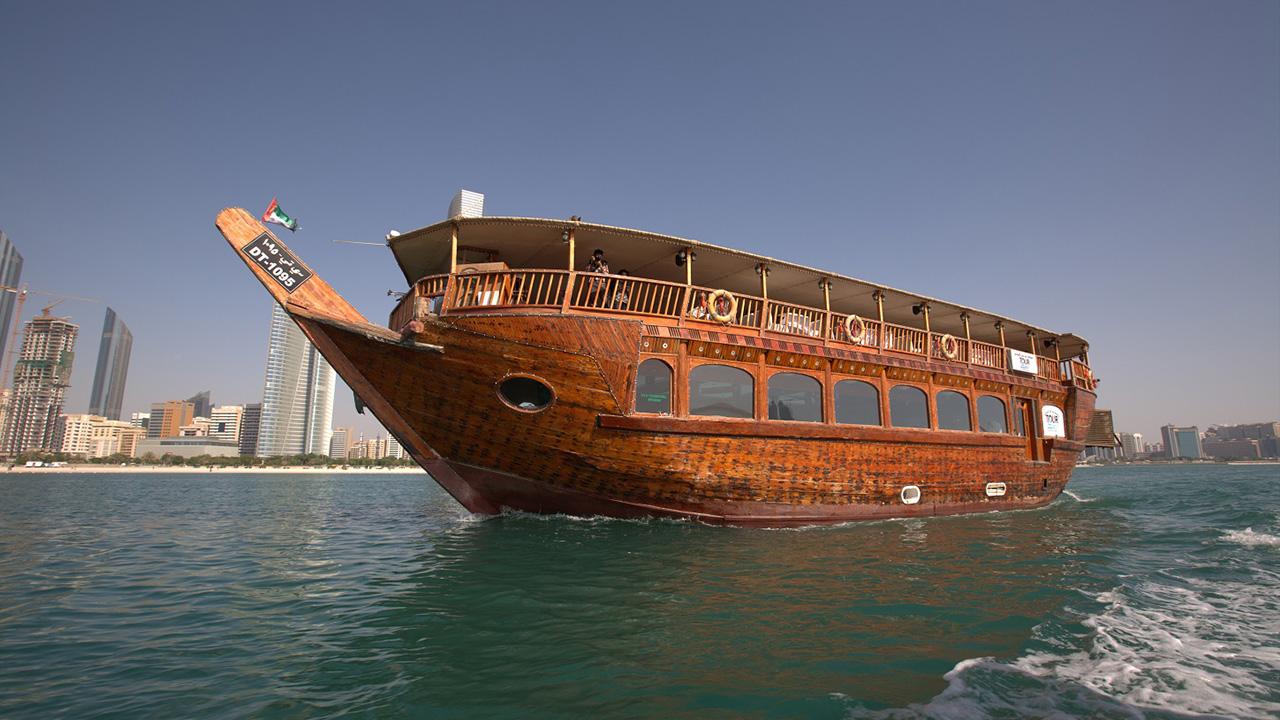 Abu Dhabi Dhow Cruise 250 Persons Capacity Marina