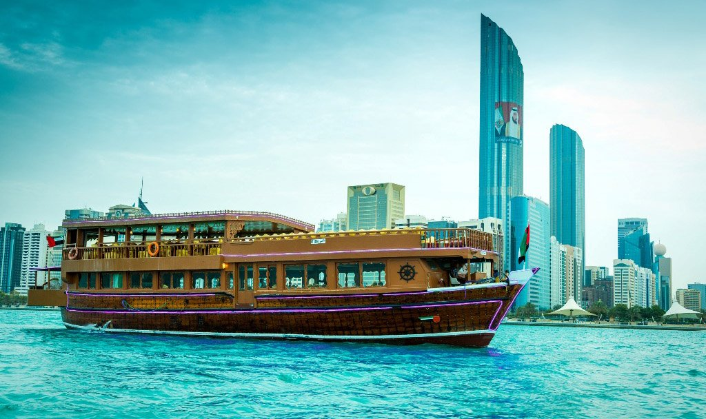 Abu Dhabi Dhow Cruise Dinner Daily Sharing Boat